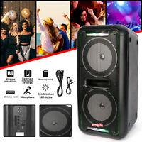 Dual 6.5'' Bluetooth Wireless Speaker Home Xmas Party Heavy Bass Sound Karaoke