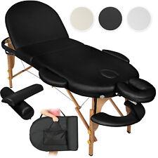 Table de massage cosmetique lit de massage reiki oval + accessoires set 3
