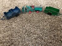 Vintage Matchbox Lesney Tractor & Tootsie Toy Trailer & Wagon