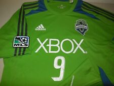 Adidas Seattle Sounders Soccer Jersey Shirt Green Athletic Team Training Mls L