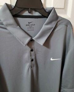 NWT Men's Nike Big & Tall Dri-Fit Swoosh Logo Polo Shirt Red 4XLT NEW Big & Tall