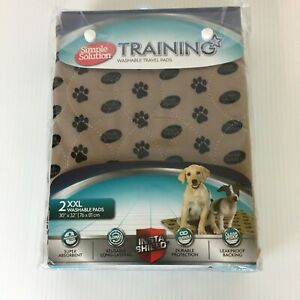 Simple Solution Large Washable Training and Travel Dog Puppy Pad  2 Count