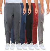 Men's Cargo Jogger Pants Casual Workout Sport Gym Fitness Fleece Sweatpants