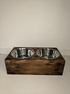Raised Dog Bowls Wooden