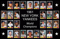 1961 NEW YORK YANKEES POSTER World Series Team Mickey Mantle Decor Xmas Gift 61