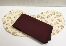 Ivory Flannel w Animal Print LG Burp Cloth & Swaddle Terry OR Flannel Back