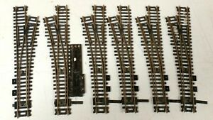 (6) Atlas #4 Nickel Silver Turnouts Track Switches, 5 LH and one RH, One Machine