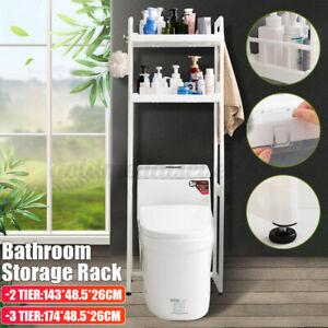 2/3 Tier Toilettenregal Waschmaschinenregal stehender Organizer Über WC aus