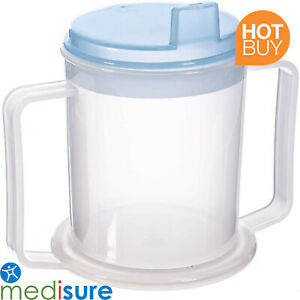 Adult Drinking Cup Non-Spill Beaker Parkinsons Disability Mobility Aid Elderly