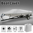 """Gray 16-18ft 94"""" 300D Trailerable Boat Cover Waterproof V-Hull Tri-Hull Runabout"""