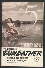 1950 ~Australian Sunbather Magazine ~December, Vol.5,no.1