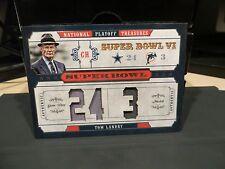 National Treasures Super Bowl Vl Jacket Cowboys Coach Tom Landry 13/25  2008