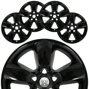 "4 for Dodge Ram 1500 2013-2017 Black 20"" Wheel Skins Hub Caps 5 Spoke Rim Covers"