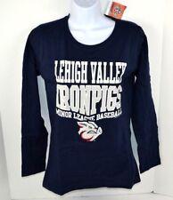 Minor League Baseball Lehigh Valley Iron Pigs Women's Soft L/S T-Shirt, Navy S