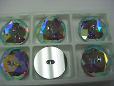 2 large swarovski 2-hole sew on buttons in 30mm crystal AB/M-foiled #3014