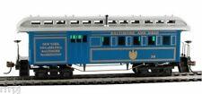 HO B&O1890 WOODEN COMBINE PASS CAR#720525 BLUE & GOLD *Damaged Box*
