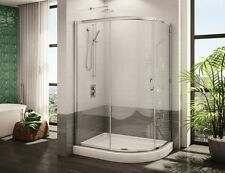 "FLEURCO 48"" x 36"" SIGNATURE CAPRI HALF-ROUND 3/16"" FRAMELESS SLIDING SHOWER DOOR"