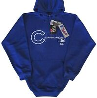 Chicago Cubs MLB Majestic Authentic Pullover Hoodie Blue Size 3X