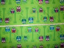 Nurse uniform scrub top xs small med lg xl 2x 3x 4x  COLORFUL OWLS GREEN LAST 1