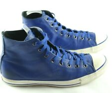 Converse Mens Sneakers Sz 12 Royal Blue Leather Lace Up Shoes