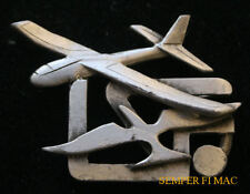GLIDER LSF PEWTER HAT LAPEL PIN SAIL PLANE MADE IN US League of Silent Flight