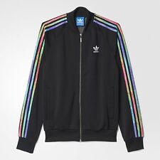 ADIDAS ORIGINALS LGBT SUPERSTAR TRACK TOP JACKET SIZE XXL RAINBOW BLACK B30898