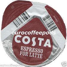 48x Tassimo Costa Café Espresso Para Café Con Leche T-Discs (se Venden Sueltos) Expresso