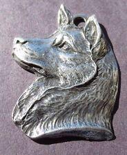 Dog Silhouette Statue Siberian Husky Ears Eye Nose Detailed Design - Jewelry NEW