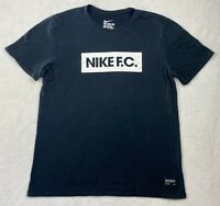 The Nike Tee Men's Nike F.C. Short Sleeve Shirt size Large Black 100% Cotton