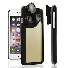 4IN1 Camera / Fisheye / Wide angle / Macro Lens Back Case for iPhone 7 4.7inch