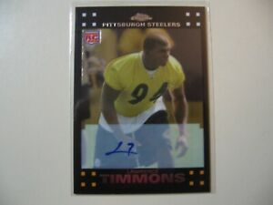 2007 Topps Chrome Lawrence Timmons RC Rookie AUTO Autograph