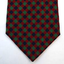 HOLLIDAY & BROWN For Brancaccio Salerno Wool Checked Diamond Handmade Tie Multis