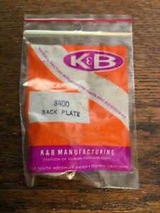 Vintage K&B Manufacturing Part# 8400 K/B Back Plate 1/8 RC Car Racing