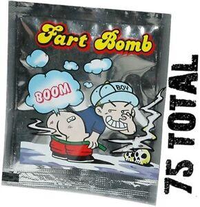 75 Fart Bomb Bags - POP toy noise maker - Stink Bombs Smelly Joke Gag Prank