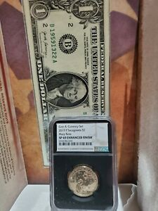 2019 P SACAGAWEA $1 MARY ROSS COIN & CURRENCY SET NGC SP69 ENHANCED - Black Core