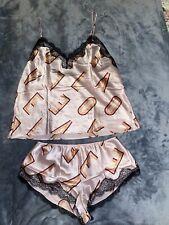 Victoria's Secret Silk Pyjamas BNWT Pink Size M-XL RRP £45