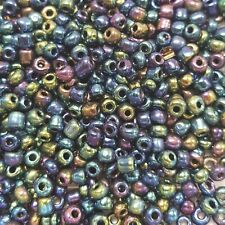 Rocailles Size 6/0 Dark Purple Pearl Seed Beads 4mm 30g Pack Jewellery & Crafts