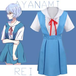 Women Cosplay Evangelion School Uniform  EVA Rei Ayanami Asuka Langley Soryu Cos