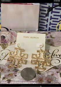 Tory burch hinged hollow earrings