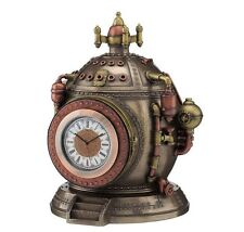 Steampunk Time Machine Sculpture Trinket Box Clock Statue Figure - GIFT BOXED