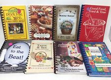BIG random lot 20 fundraiser church community spiral COOKBOOKS - vintage+newer