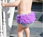 1 Make Offer US Purple Black Zebra Bloomer Diaper Cover Bow 6 mths 4 yr Princess