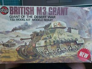 AIRFIX BRITISH M3 GRANT MEDIUM TANK 1/32 SCALE VINTAGE MODEL KIT. # 08365.
