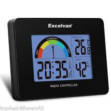 Digital Radio Clock Reloj Alarma Despertador Temperatura Humedad Backlight Negro