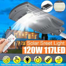 120W 170 LED Lampione Stradale Faro Con Pannello Solare Telecomando Crepuscolare