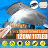 120W 117 LED Lampione Stradale Faro Con Pannello Solare Telecomando Crepuscolare