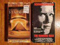 (Lot2) Stargate 94 The Running Man 87 VHS RARE ORIGINAL HTF OOP Action Sci-Fi