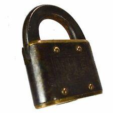 YALE & TOWNE Padlock Brass Vintage Old Rectangle Lock (no key)