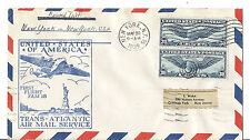 1939 US FFC Round Trip - NY to Marseille, France - FAM 18 Trans Atlantic - C24*