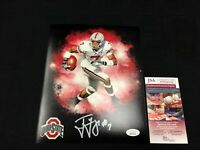 TED GINN JR OHIO STATE BUCKEYES SIGNED AUTOGRAPHED 8X10 PHOTO JSA COA WPP264346